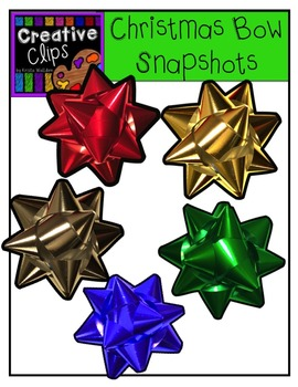 Christmas Bow Snapshots{Creative Clips Digital Clipart}