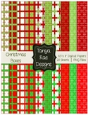 Christmas Boxes: Digital Background Papers & Frames