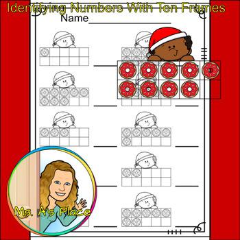 Christmas Boy Ten Frame/Number Recognition