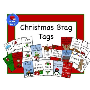 Christmas Brag Tags
