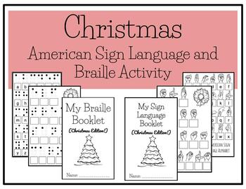 Christmas Braille and American Sign Language Activity