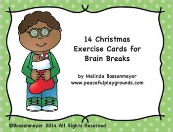 Christmas Brain Break Exercise Cards