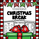 Christmas Break Packet - Kindergarten