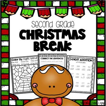 Christmas Break Packet - Second Grade