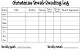 Christmas Break Reading Log