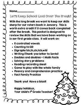 Christmas Break Review Pack {Keeping School Cool Over the Break}