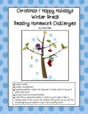 School Break / Holiday Reading Homework Challenges: Christmas and Winter Breaks