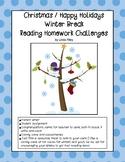 School Break / Holiday Reading Homework Challenges: Christ