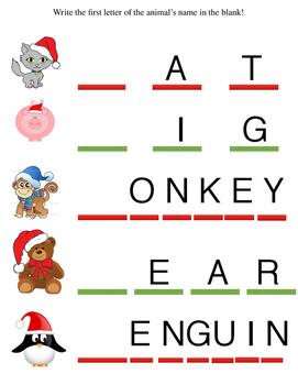 Christmas Break Worksheets