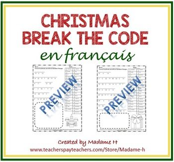 Christmas Break the Code en français!