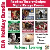 Christmas Breakout Escape Room and Readers Theater Bundle. Holiday Activities.