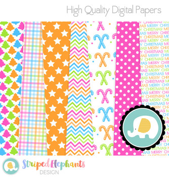 Christmas Bright Digital Papers