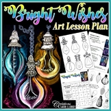 Christmas : Bright Wishes - Art Lesson Plan