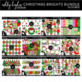 Christmas Brights BUNDLE (12 SETS) - Outlined - [Ashley Hu