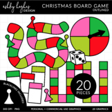 Christmas Brights Board Games Outlined Clipart [Ashley Hug