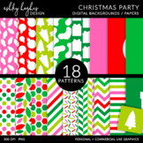 Christmas Brights Digital Backgrounds / Papers Sets - [Ash