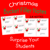 Christmas Bucket Filler Notes Candy Canes From Teacher to Students
