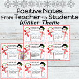 Winter Bucket Filler Notes From Teacher to Students
