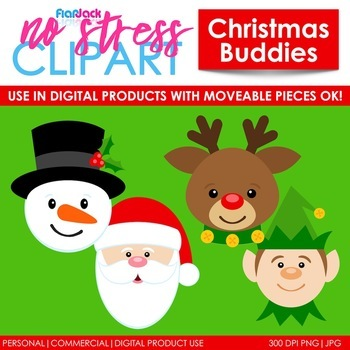 Christmas Buddies Clip Art (Digital Use Ok!)