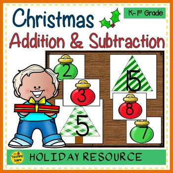 Christmas Build 2 Addend 0-20 Addition & Subtraction Number Sentence