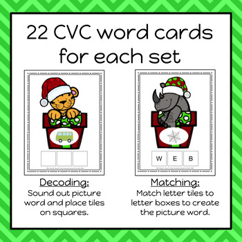 Christmas Build A CVC Word