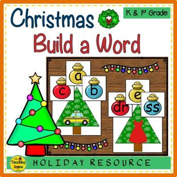 Christmas Build a CVC Word