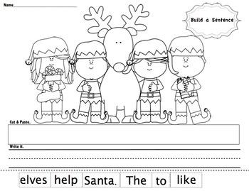 Christmas Build a Sentence