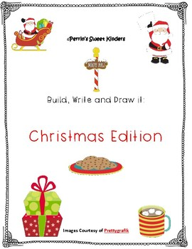 Christmas Build, Write and Draw with Vocab Words- BUNDLE