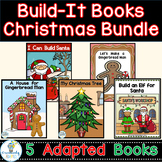Christmas Build it Books Bundle 5 Interactive Adapted Books