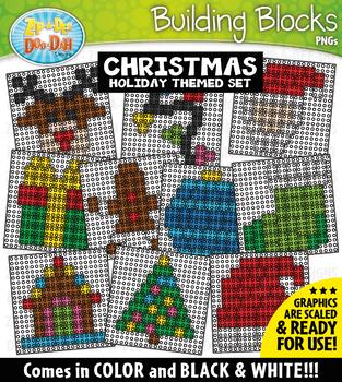 Christmas Building Blocks Clipart {Zip-A-Dee-Doo-Dah Designs}