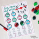 Christmas Building Cubes Math Activities for Kindergarten
