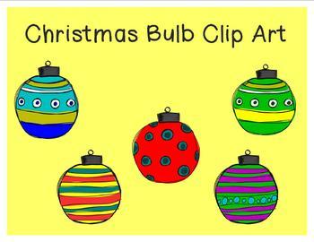 Christmas Bulb Clip Art