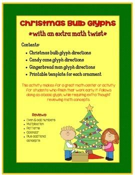 Christmas Bulb Glyphs *with an extra math twist*