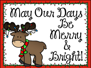 Christmas Bulletin Board. Christmas Light bulbs. May Our Days Be Merry & Bright