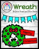 Christmas Bulletin Board, Door Decor: Wreath Craft, Holida