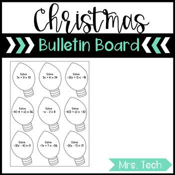 Christmas Bulletin Board - Inequalities
