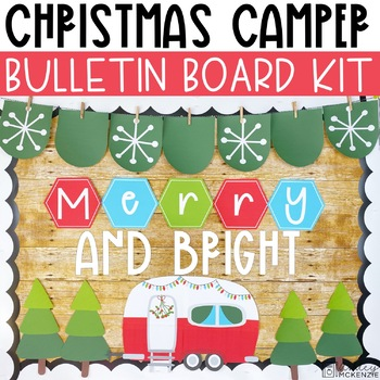 Christmas Bulletin Board Kit - Camper Theme