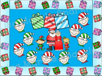 Christmas Bulletin Board Kit Santa's Elves