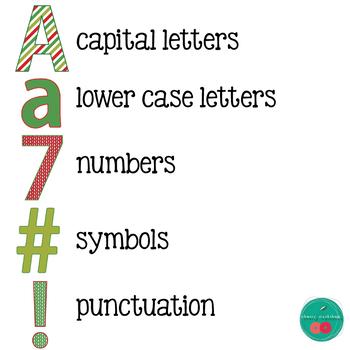 Christmas Bulletin Board Letters