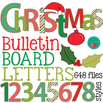 Christmas Letters.Christmas Bulletin Board Letters