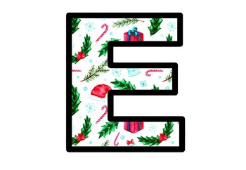 Christmas, Bulletin Board Letters, Classroom Decor