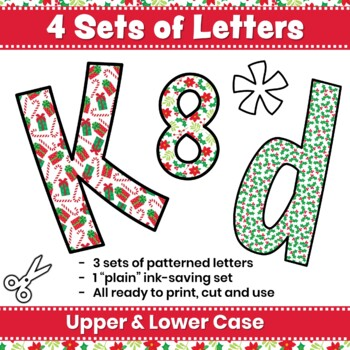 Christmas Bulletin Board Letters & Editable Bunting Christmas Patterns Holiday