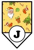 Christmas Bulletin Board Sayings Pennant Banner, Joy To The World, Class Decor