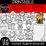 Christmas Bulletin Board Toppers {Made by Creative Clips}
