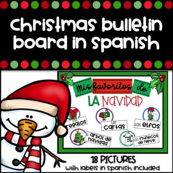 Christmas Bulletin Board in Spanish - Cartelera de Navidad