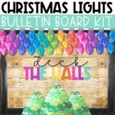 Christmas Bulletin Board or Door Kit - Chritmas Lights Theme