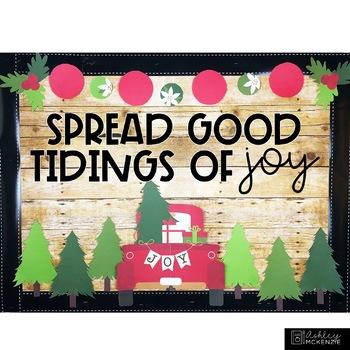 Christmas Bulletin Board or Door Kit - Little Red Truck Theme