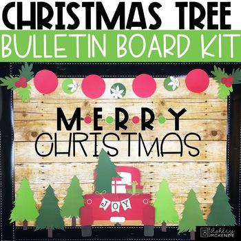 Christmas Bulletin Board Or Door Kit Little Red Truck Theme Tpt