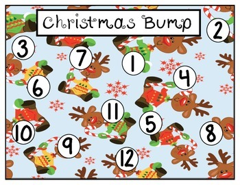 Christmas Bump: A Counting, Subitizing, and Number Recognition Game
