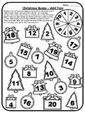 Christmas Bump Game Christmas Add Two Bump Math Centers Christmas Bump Games